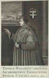Thomas Wolsey, by Paul Fourdrinier (Pierre) - NPG D33089