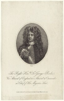 Sir George Rooke, by Thomas Blood, published by  Joyce Gold, after  Sir Godfrey Kneller, Bt - NPG D31212