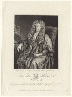 Sir John Houblon, by Robert Grave, published by  Thomas Rodd the Younger, published by  Horatio Rodd, after  John Closterman - NPG D31218