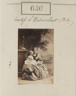 Adelaide Ida (née Curzon), Countess Westmorland and baby, probably Anthony Mildmay Julian Fane, 13th Earl of Westmorland, by Camille Silvy - NPG Ax50302