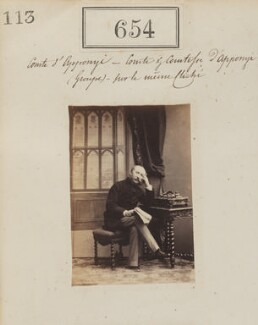 Rudolf, Count Apponyi, by Camille Silvy, 1860 - NPG Ax50309 - © National Portrait Gallery, London