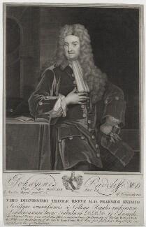 John Radcliffe, by George Vertue, after  Sir Godfrey Kneller, Bt - NPG D31226