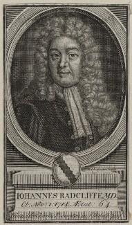 John Radcliffe, by Michael Vandergucht, after  Sir Godfrey Kneller, Bt - NPG D31229