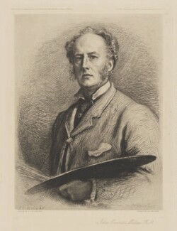 Sir John Everett Millais, 1st Bt, published by The British and Foreign Artists' Association, after  Charles Albert Waltner, after  Sir John Everett Millais, 1st Bt, 1 January 1881 (1880) - NPG D33173 - © National Portrait Gallery, London
