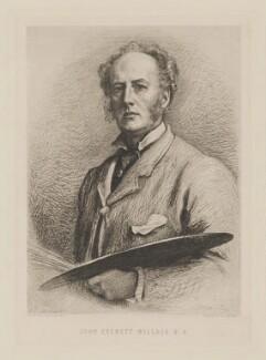 Sir John Everett Millais, 1st Bt, after Charles Albert Waltner, after  Sir John Everett Millais, 1st Bt - NPG D33174