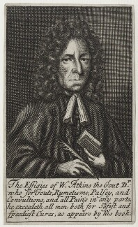 William Atkins, possibly by Frederick Hendrik van Hove, published 1694 - NPG D31245 - © National Portrait Gallery, London