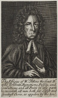 William Atkins, possibly by Frederick Hendrik van Hove, published 1694 - NPG D31246 - © National Portrait Gallery, London