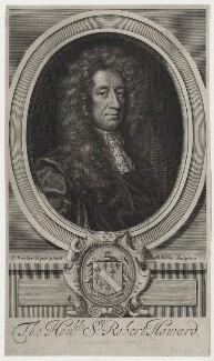 Sir Robert Howard, by Robert White, after  Sir Godfrey Kneller, Bt - NPG D31248