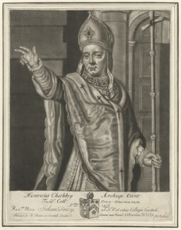 Henry Chichele, by John Faber Sr, after  Unknown artist - NPG D33181