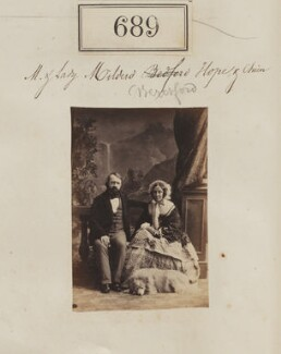 Alexander James Beresford Beresford Hope; Lady Mildred Arabella Charlotte Henrietta Beresford Hope (née Gascoyne-Cecil), by Camille Silvy - NPG Ax50337