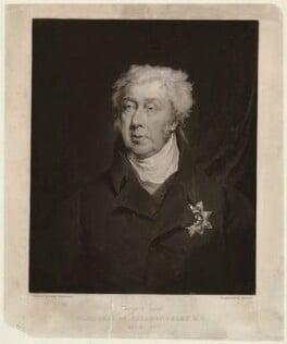George James Cholmondeley, 1st Marquess of Cholmondeley, by William Brett, after  John Simpson, (1825) - NPG D33188 - © National Portrait Gallery, London