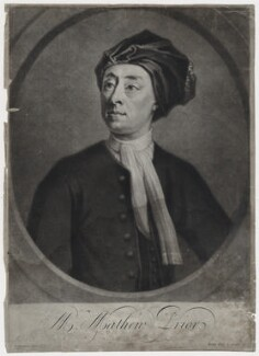 Matthew Prior, by and published by John Simon, after  Jonathan Richardson - NPG D31255