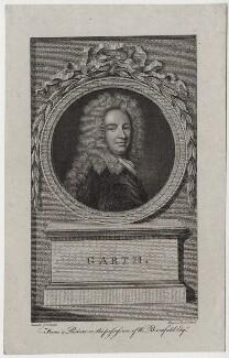 Sir Samuel Garth, by James Caldwall, after  Sir Godfrey Kneller, Bt - NPG D31259