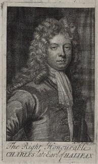 Charles Montagu, 1st Earl of Halifax, by Michael Vandergucht, after  Sir Godfrey Kneller, Bt - NPG D31262