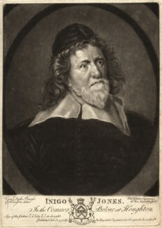 Inigo Jones, by Valentine Green, after  Sir Anthony van Dyck - NPG D9267