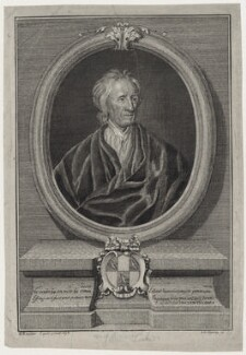 John Locke, by Johann Christoph Sysang, after  Sir Godfrey Kneller, Bt - NPG D31275