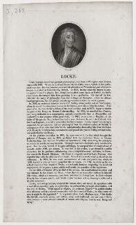 John Locke, by William Holl Sr, or by  William Holl Jr, after  Sir Godfrey Kneller, Bt - NPG D31277
