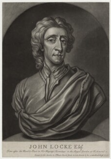 John Locke, by John Faber Jr, published by  Thomas Bowles Jr, and published by  John Bowles - NPG D31282