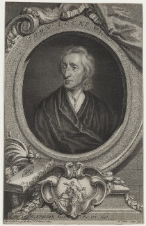 John Locke, by George Vertue, after  Sir Godfrey Kneller, Bt - NPG D31283