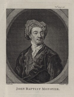 Jean-Baptiste Monnoyer, by Thomas Chambers (Chambars), after  Sir Godfrey Kneller, Bt - NPG D31301