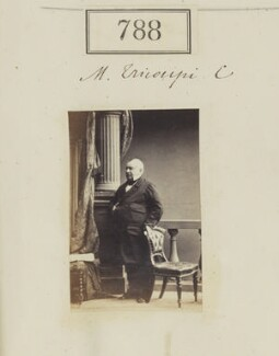 Spiridon Trikoupis (Tricoupis), by Camille Silvy, 1860 - NPG Ax50397 - © National Portrait Gallery, London