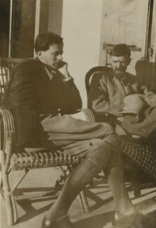 Aldous Huxley; D.H. Lawrence, possibly by Lady Ottoline Morrell - NPG x140426