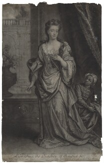Mary Butler (née Somerset), Duchess of Ormonde and an unknown boy, by and published by John Smith, after  Sir Godfrey Kneller, Bt - NPG D31318