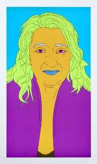 Dame Zaha Hadid, by Michael Craig-Martin, 2008 - NPG 6840 - © National Portrait Gallery, London