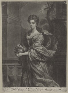 Dodington Montagu (née Greville), Duchess of Manchester, by John Faber Jr, after  Sir Godfrey Kneller, Bt - NPG D31326
