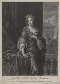 Jane Hyde (née Leveson-Gower), Countess of Clarendon and Rochester, by John Faber Jr, after  Sir Godfrey Kneller, Bt, published by  Robert Sayer - NPG D31328