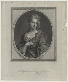 Jane Hyde (née Leveson-Gower), Countess of Clarendon and Rochester, by John Goldar, after  Sir Godfrey Kneller, Bt - NPG D31330