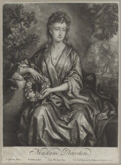 Sarah Plowden (née Chicheley), by William Faithorne Jr, after  John Closterman, published by  Edward Cooper - NPG D31336