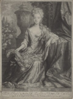 Constantia Smithson (née Hare), by and published by John Smith, after  Herman Verelst - NPG D31345