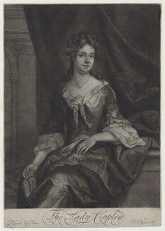 Catherine Copley (née Purcell), Lady Copley, by and published by John Smith, after  Sir Godfrey Kneller, Bt - NPG D31346