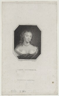 Lady Southesk, by Edward Scriven, after  Sir Peter Lely - NPG D31349