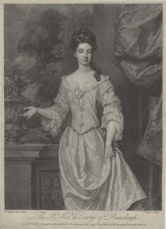 Margaret Jones (née Cecil), Countess of Ranelagh, by John Faber Jr, printed for and sold by  Robert Sayer, printed for and sold by  John King, after  Sir Godfrey Kneller, Bt - NPG D31351