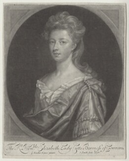 Elizabeth Cutts (née Pickering), Lady Cutts of Gowran, by John Smith, after  Sir Godfrey Kneller, Bt, 1698 - NPG D31355 - © National Portrait Gallery, London