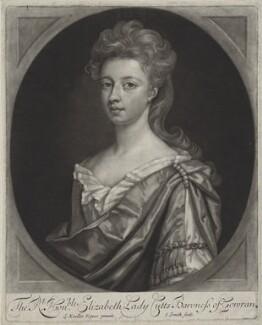 Elizabeth Cutts (née Pickering), Lady Cutts of Gowran, by John Smith, after  Sir Godfrey Kneller, Bt, 1698 - NPG D31356 - © National Portrait Gallery, London