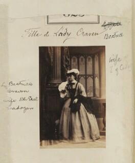 Beatrix Jane (née Craven), Countess Cadogan, by Camille Silvy - NPG Ax50431