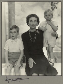 Duchess of Gloucester with her sons, by Madame Yevonde - NPG x34008