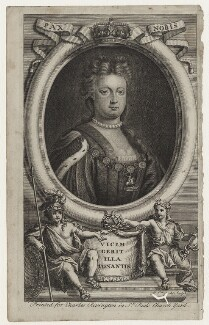 Queen Anne, by Michael Vandergucht, after  Charles Boit - NPG D31365