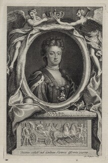 Queen Anne, by Michael Vandergucht, after  Charles Boit - NPG D31366