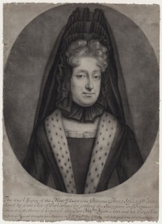 Princess Sophia, Electress of Hanover, by William Faithorne Jr, after  Unknown artist - NPG D31373