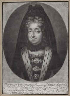 Princess Sophia, Electress of Hanover, by William Faithorne Jr, after  Unknown artist - NPG D31374