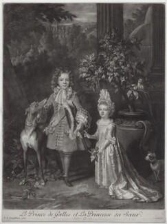 Prince James Francis Edward Stuart; Princess Louisa Maria Theresa Stuart, by and published by John Smith, after  Nicolas de Largillière - NPG D31377