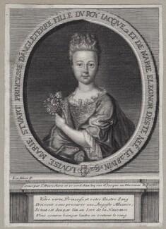 Princess Louisa Maria Theresa Stuart, by Étienne Jehandier Desrochers, after  Nicolas de Largillière - NPG D31383