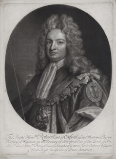 Robert Harley, 1st Earl of Oxford, by and published by John Smith, after  Sir Godfrey Kneller, Bt - NPG D31387