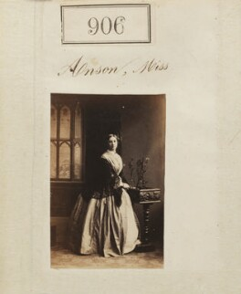 Alice Louisa Fitzwilliam (née Anson), by Camille Silvy, 1860 - NPG Ax50490 - © National Portrait Gallery, London