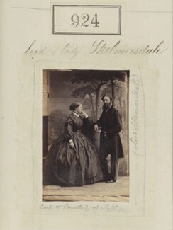 Alice (née Villiers), Countess of Lathom; Edward Bootle-Wilbraham, 1st Earl of Lathom, by Camille Silvy - NPG Ax50500