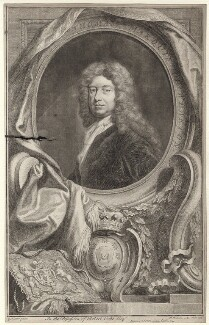 Thomas Wharton, 1st Marquess of Wharton, by Jacobus Houbraken, published by  John & Paul Knapton, after  Sir Godfrey Kneller, Bt - NPG D31404